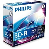 Philips Blu Ray Disc BD-R 135 min/25 Go 4x, en jewelbox de 5 pièces
