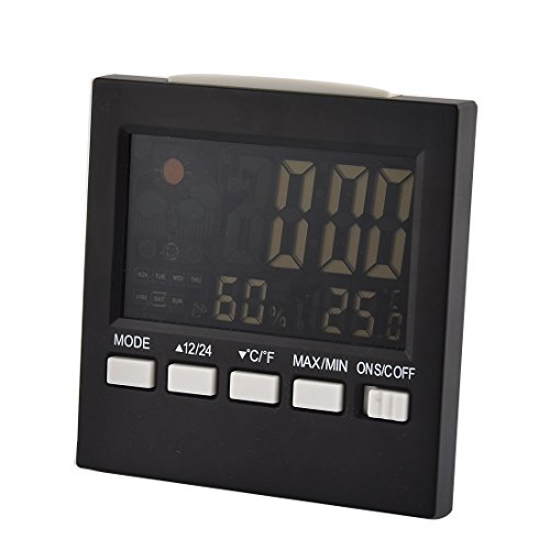 Preisvergleich Produktbild sourcingmap® Elektronische LCD Hintergrundbeleuchtet Temperatur Feuchtigkeit Wetterstation