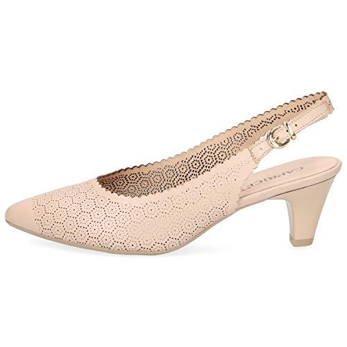 CAPRICE 9-29601-22 Schuhe Damen Sling Pumps Weite G, Schuhgröße:39 EU, Farbe:Beige -