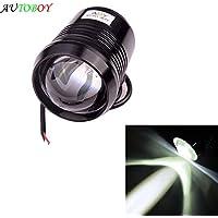 ABY alta potencia 12 V 30 W U2 LED coche niebla lámpara foco faro lámpara de conducción para moto/ATV/SUV/Camión impermeable negro carcasa