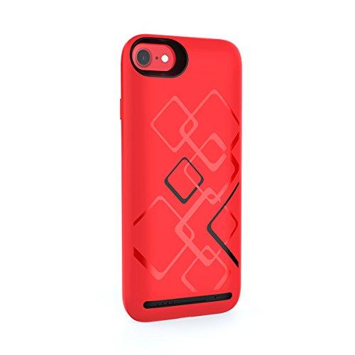 Adesugata Capacité 6000mAh Ultra fin rechargeable Coque souple avec chargeur de téléphone Coque pour iPhone 6/6s Plus Portable batterie Extended batterie de secours étui de chargement Lot externe ban Red