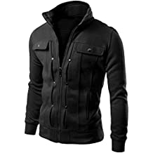 Jacket Abrigos De Manga Larga Tops Cremallera Capa De La Chaqueta Outwear Para Hombre