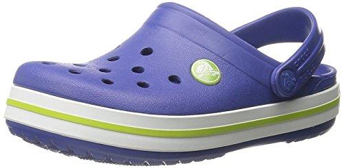 Crocs Crocband Kids, Unisex - Kinder Clogs, Blau (Cerulean Blue/Volt Green), 29-31 EU (Herren-komfort-clogs)