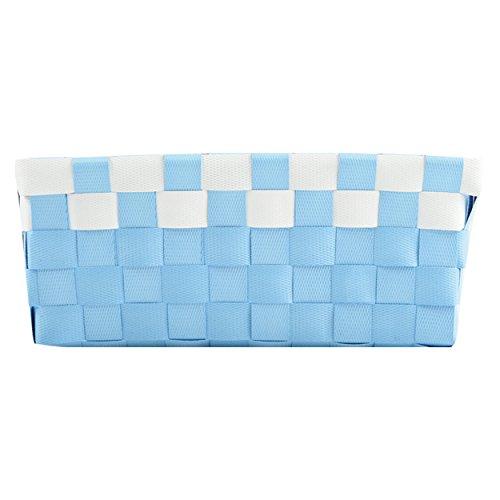 MSV Panier, Bleu pastel/blanc, Unique