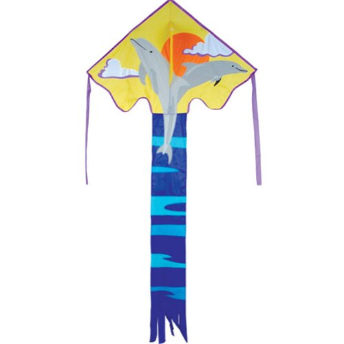 Dolphin Kite. Kinder Easy Flyer Single Line Kite. -