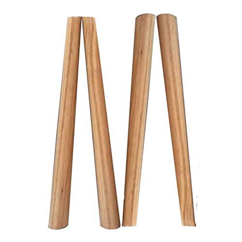 RXBFD Zirkularität Massivholz Möbelfüsse, Ersatz Zähler/Bar/Büro/Küche/Dinner Desk/Arbeitsplatte Möbelfüsse, Packung mit 4 (Mit Schraube) - 4 Zähler Höhe Stühle