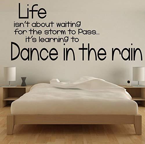 Dalxsh Tanz im regen zitate textwandaufkleber posterneues designwohnkultur diy schwarz wandtattoos druck für kinderzimmer schlafzimmer 59x25 cm