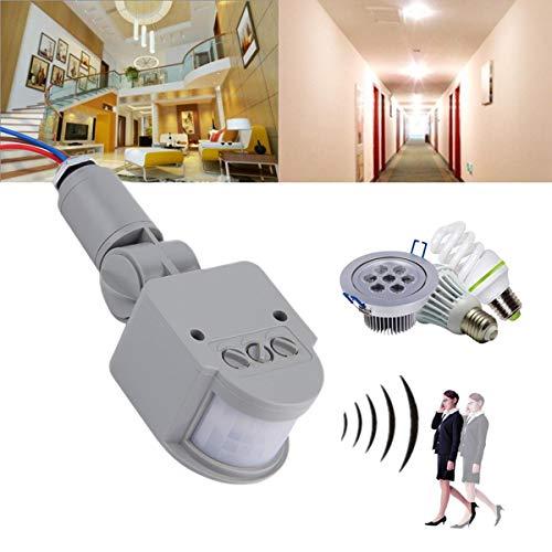 Gugutogo Außen AC 220 V Automatische Infrarot-PIR Bewegungs-Sensor-Schalter für LED-Licht (Motion-sensor-schalter 220v)