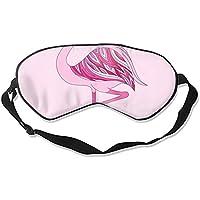 Schlafmaske aus Naturseide, mit Augenbinde, super glatt, Rosa Flamingo preisvergleich bei billige-tabletten.eu