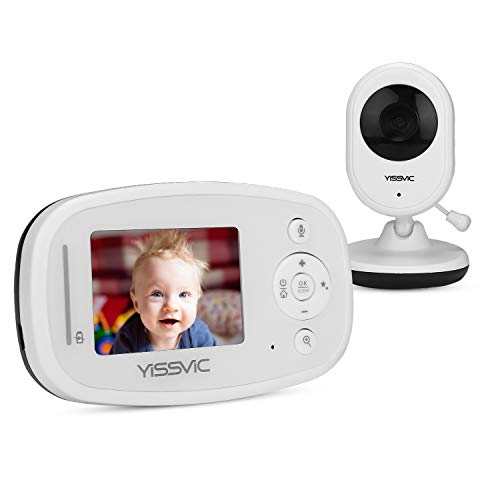 Yissvic Baby Monitor 2,4 Pollici LCD Babyphone con Luce Notturna Audio e Video Wireless con Visione Notturna per Videosorveglianza Bambini