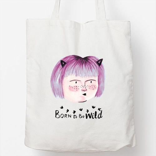 Positivos Bolsos Totebag Bolsa Tote algodón Born to be Wild
