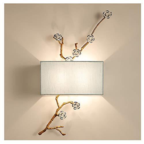 LEBAO-wall lamp Neuer Chinesischer Stil Wandleuchte Wandlampe- Eisenkunst Kreativ Schlafzimmer Hotel Bett Kopflicht Wohnzimmer Villa Leuchte [Energieklasse A+]