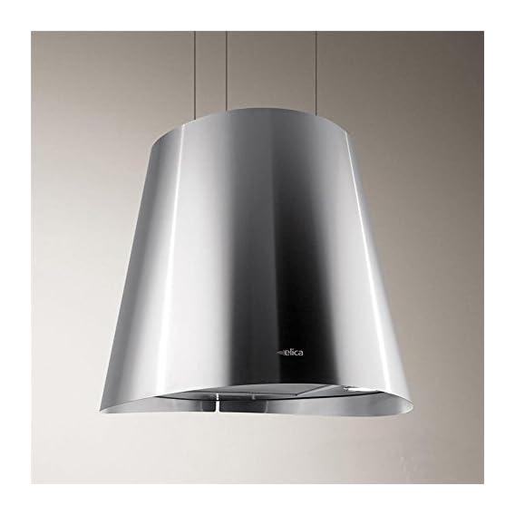 Elica Juno - Cappa da cucina sospesa in acciaio inox, Ø 50 cm - Elettro
