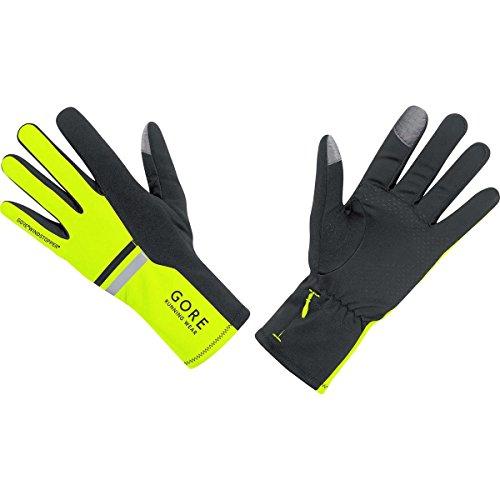 GORE RUNNING WEAR Herren Warme Lauf-Handschuhe, GORE WINDSTOPPER, MYTHOS 2.0 Gloves, Größe 11, Neon Gelb/Schwarz, GWSMYM
