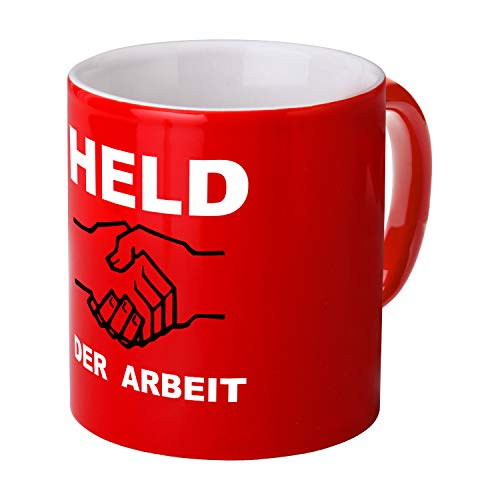 Tasse Held der Arbeit rot - Ossi Produkte - für Ostalgiker - DDR Geschenke