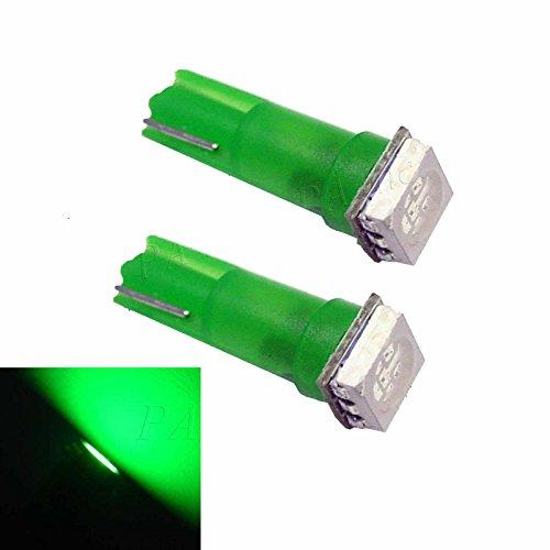 PA 10 x T5 74 73 5050 SMD LED pour tableau de bord Vert 12 V