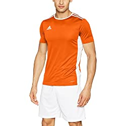 adidas Entrada 18 JSY Jersey, Hombre, Naranja (Orange/White), M
