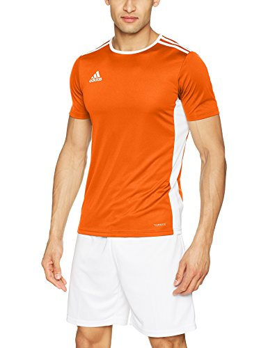 adidas Herren ENTRADA 18 JSY T-Shirt, orange/White, L