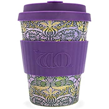 vari colori Peacock in fibra di bamb/ù naturale ecologica e riutilizzabile Ecoffee William Morris Tazza da caff/è da 340/ml