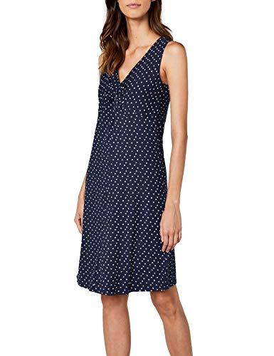 TOM TAILOR Damen Kleid Lovely Knot Dress, Blau (Real Navy Blue 6593), 36