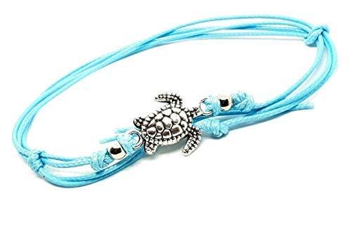 Eclectic Shop Uk Schildkröte Fußkette Hawaii Schildkröte Perlenbesetzt Bohemian Boho Fußkettchen Fuß Strand Schmuck Aquamarin Schnur Spitze Geschenk