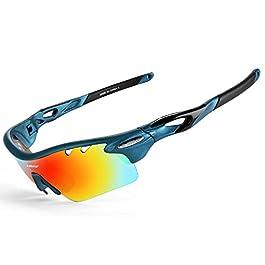 INBIKE Occhiali da Sole Ciclismo Polarizzati Sportivi con 5 Lenti Colorati Anti-UV da Uomo