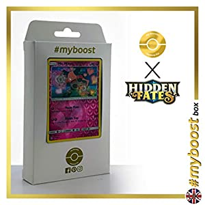 Mr. Mime 43/68 Holo Reverse - #myboost X Sun & Moon 11.5 Hidden Fates - Box de 10 cartas Pokémon Inglesas