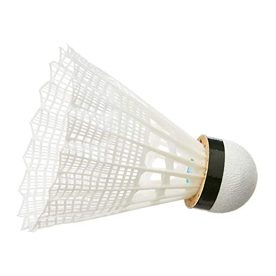 Royal Sports Nylon White Shuttlecock standered Size(Pack of 10).Badminton Shuttlecock