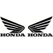 Set de 2 pegatinas de vinilo, diseño de alas de Honda, para moto,
