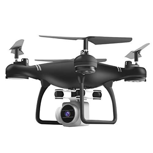 jfhrfged Quadricottero per Selfie con Telecomando Drone Pieghevole 2.4G WiFi RC con Videocamera HD (-Nero)