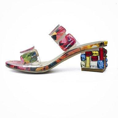 RTRY Donna Mocassini &Amp; Luce Slip-Ons Suole Tpu Estate Abbigliamento Casual A Piedi Suole Di Luce Cristallo Tallone Traslucido Peach 2A-2 3/4In Pesca Us7.5 / Eu38 / Uk5.5 / Cn38 US6.5-7 / EU37 / UK4.5-5 / CN37