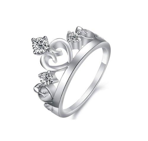 NYE NEIL JEWELRY Damen-Krone Ring grace 925 Sterling Silber glam (57 (18.1))
