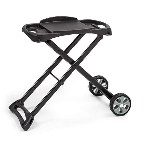 Klarstein Parforce Stand Grilltisch • Zubehör für Parforce One/Duo • 2 PE-Räder • zusammenklappbar • Material: pulverbeschichteter Stahl • schwarz