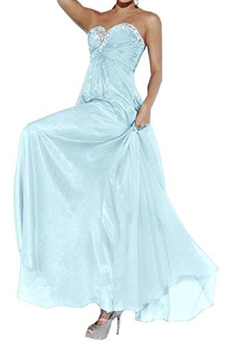 Prom dresses Toscana sposa Abendmode Impero in Chiffon lunghi abiti da sera damigella d'onore Party hard Hell Himmel Blau