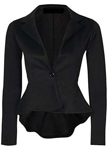 EKU Womens Slim Fitted One Button Blazer Jacket Suit Test