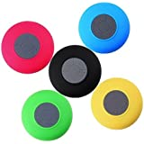 AVMART Mini Portable Waterproof Bluetooth Wireless Stereo Shower Speakers With Suction Cup For All Devices With Bluetooth Asorted Colour (1 Pcs)