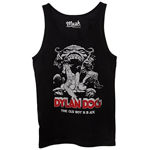 Canotta DYLAN DOG OLD BOY IS BACK - CARTOON by Mush Dress Your Style - Donna-XS-Nera