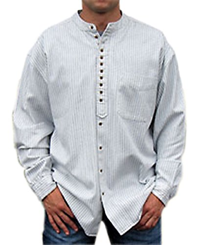 NADUR -  Camicia Casual  - Uomo Cream Blue
