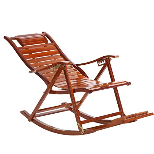 WJJJ Bamboo Recliner Chairs Adult Klappstuhl Napping Chair Home Frische Stühle Alter Mann Stuhl Frühstücksstuhl Pause - Teak Patio Möbel-sets