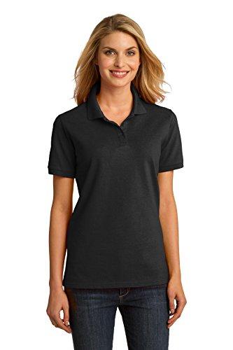 Port & Company-Anello da donna, in tessuto piqué LKP150 Shirt. nero - nero