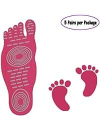 Barefoot calcetines para ejercicio playa piscina pies, agua zapatos, antideslizante calcetines de yoga de Vinilo Adhesivo Pie para hombres mujeres, elástico flexible pies Protección