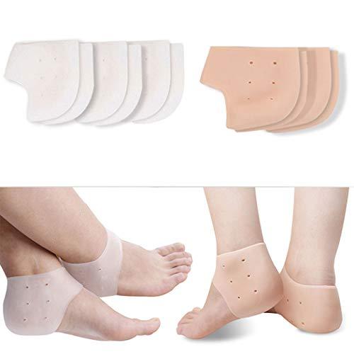 Kapmore Fersensporn Bandage Silikon, Fersensocke Fersenschutz Weiches Gebrochene Ferse Verhindern für Chronischen Fersenschmerz,Atmungsaktiven Tragekomfort