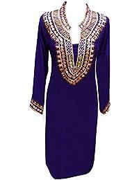 59f95785a8 Desi Sarees Women's Kurti Thread Work Tunic Kurta Tops 6078