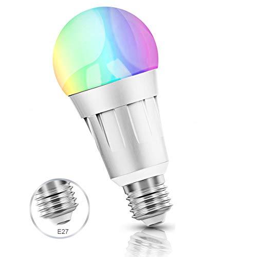 Smart Alexa Lampen, Wifi LED Alexa Glühbirne, RGB Dimmbar Color Ambiance E27 Smart Birne Kompatibel Mit Amazon Alexa, Echo Und Google Home, Steuerbar Via App, 60W äquivalent, 16 Millionen Farben (E27)