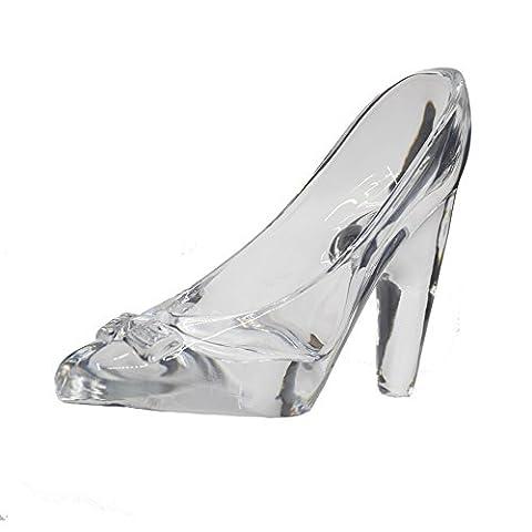 80Store Aschenputtel Freundin Kind Geschenk Schöne Dekoration Mini Kristallglas Schuhe Ornament 1PCS + Geschenkbox