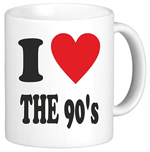 I Love Heart The 90's Nineties Novelty Mug