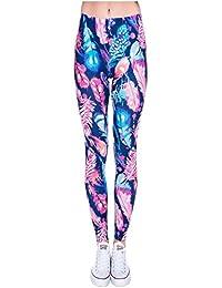 12256a23261b CHIC DIARY Legging de Sport Jogging Yoga Fitness Gym Pantalon Longue  Amincissant Comfort Motif Multicolore Bigarré