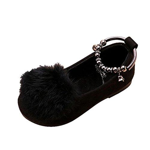 Longra Kinder Mädche schönen Schneestiefel Herbst-Winter Warme weiche Sohle Kinder Prinzessin Schuhe Partei-Schuhe für Kinder-Kostüme und Prinzessinenkleid (3-6Jahre) (30CM 5.5T-6Jahre, (Kostüme Verschiedene Sport)