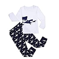 Boys Pyjamas Set Dinosaurs, Shark, Starry Sky, fire Engine, Bulldozer Long Sleeve Cotton Pajamas Kids Two-Piece Sleepwear Set 2-11 Years