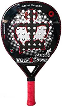 Black Crown Caiman Pala de Padel, Adultos Unisex, Negro Rojo, L